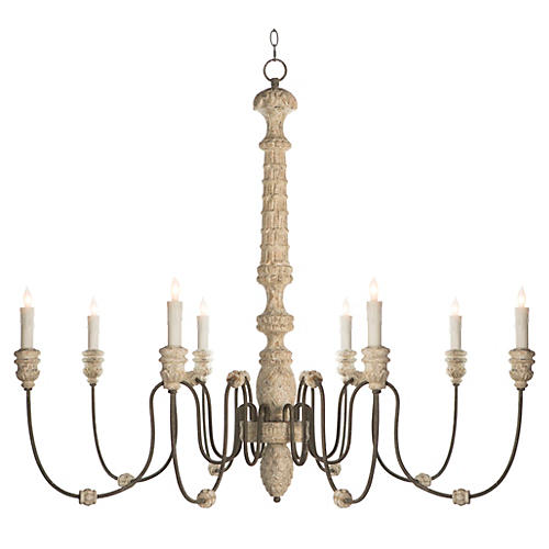 Lena Chandelier, Rustic White