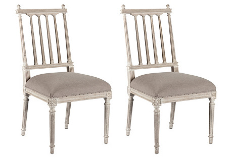 Stone Gray Coyle Side Chair, Pair
