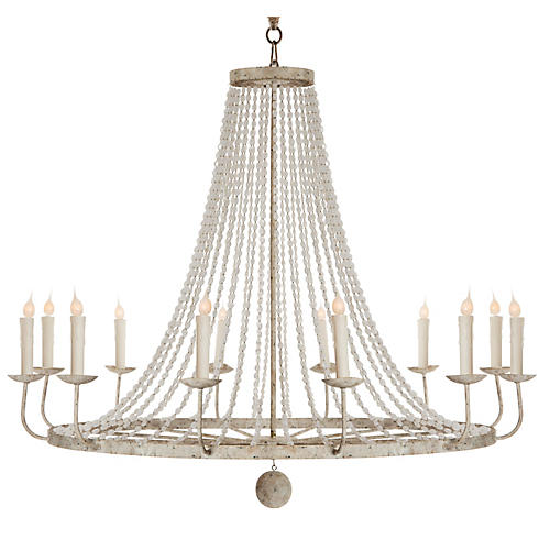 Naples 12-Light Chandelier, Light Gray