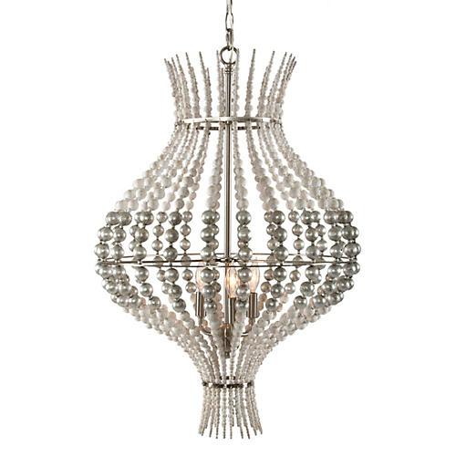 McKay 3-Light Pendant, Silver/White