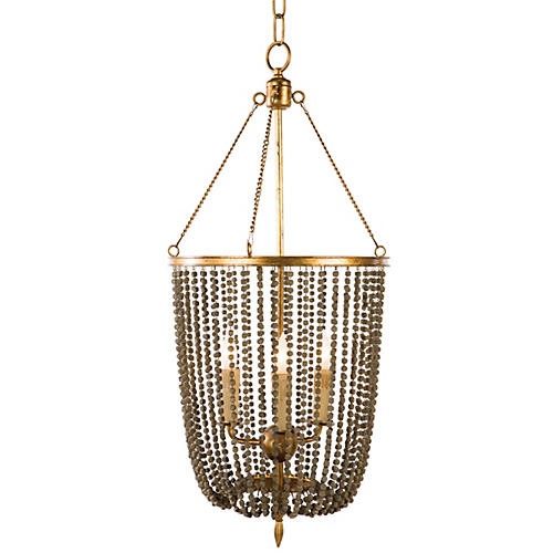 Levy 4-Light Pendant, Gold/Brown
