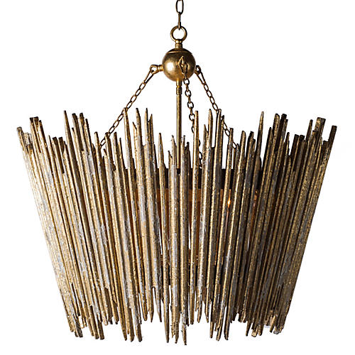 Beck 4-Light Pendant, Antiqued Gold