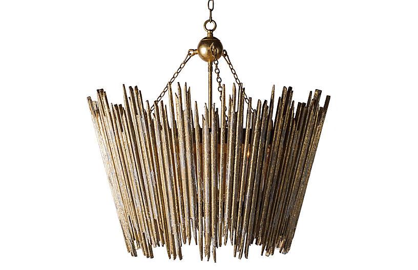 Beck 4-Light Pendant, Antiqued Gold