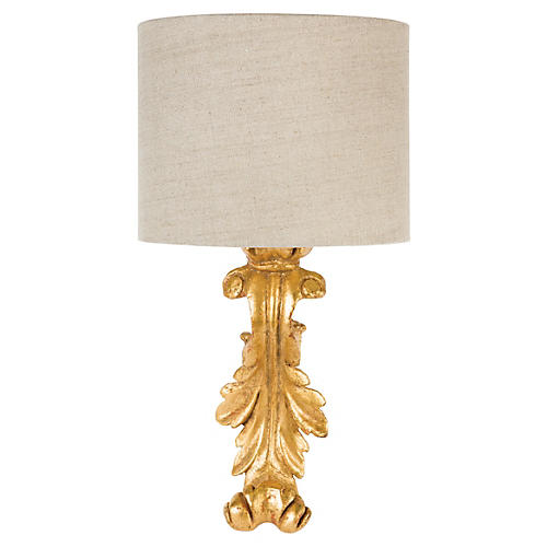 Downs Sconce, Antiqued Gold