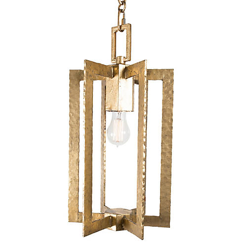 Allen Rectangle Pendant, Gold