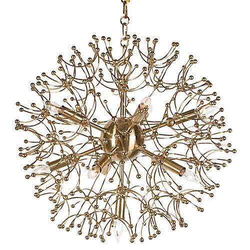 Organic Globe Pendant, Brass