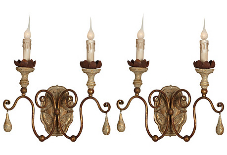 Caravelle Wall Sconce, Aged/Gold