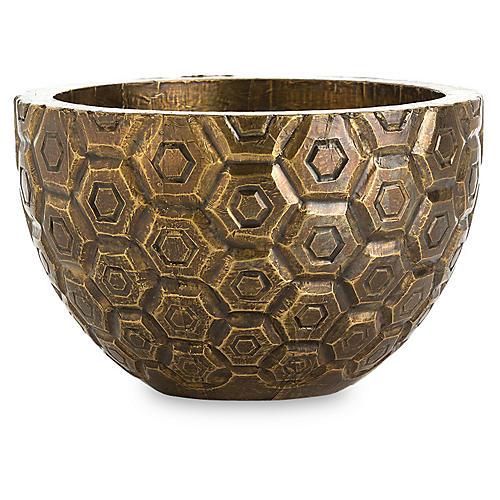 "12"" Kimo Decorative Bowl, Brass"