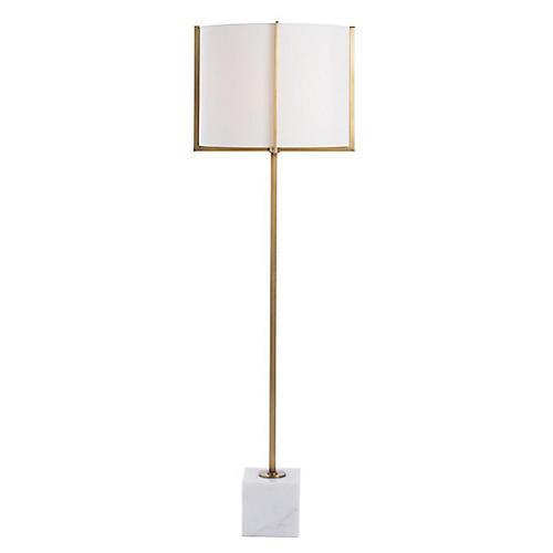 Pearson Marble Floor Lamp, Gold