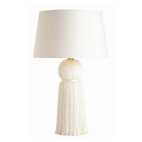 Tassel Table Lamp, Ivory