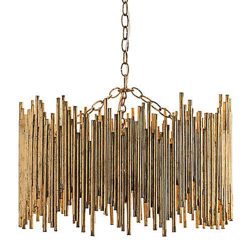 Prescott Pendant, Gold Leaf