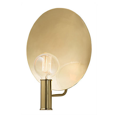 Lorita Sconce, Polished Brass