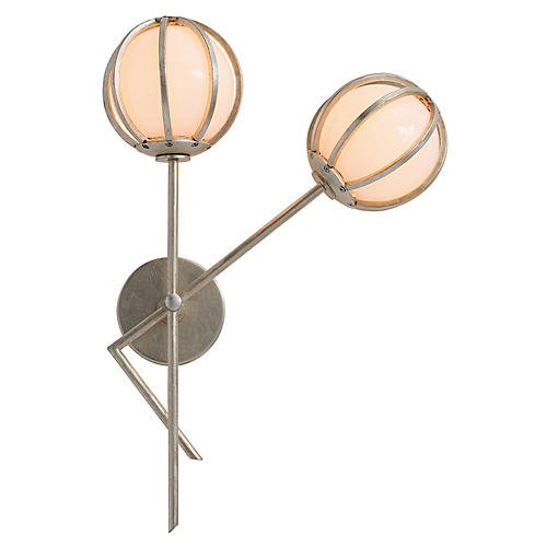 Millenium Right-Facing Sconce, Champagne/Opal