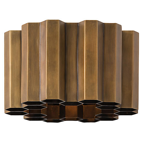 Hive Sconce, Antiqued Brass