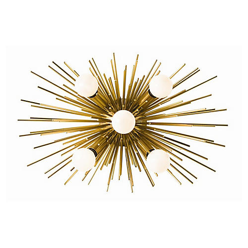 Zanadoo Sconce, Antiqued Brass