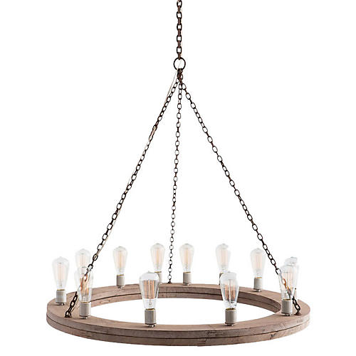 Geoffrey Small Chandelier, Rust/Gray