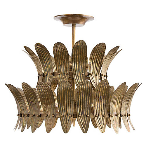 Analise Chandelier, Brass/Frosted