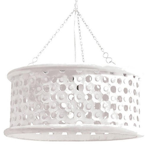 Jarrod Small Pendant, Whitewash/Mirrored