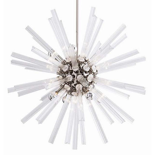 Hanley Chandelier, Clear/Nickel