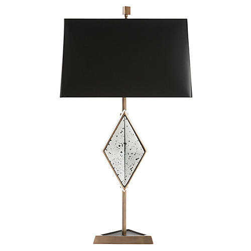Ellory Table Lamp, Brass/Mirrored