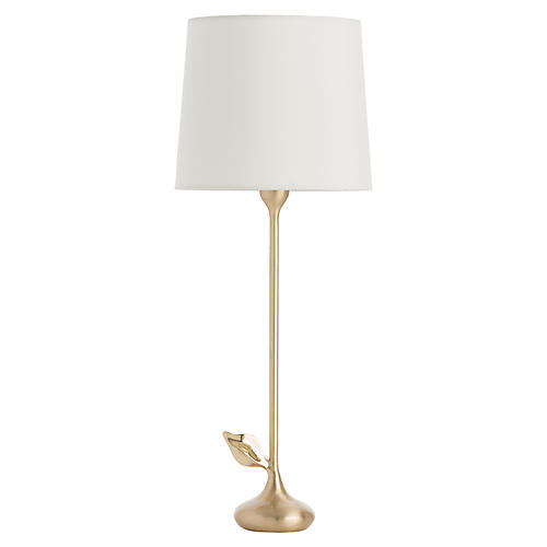 Delilah Table Lamp, Brass