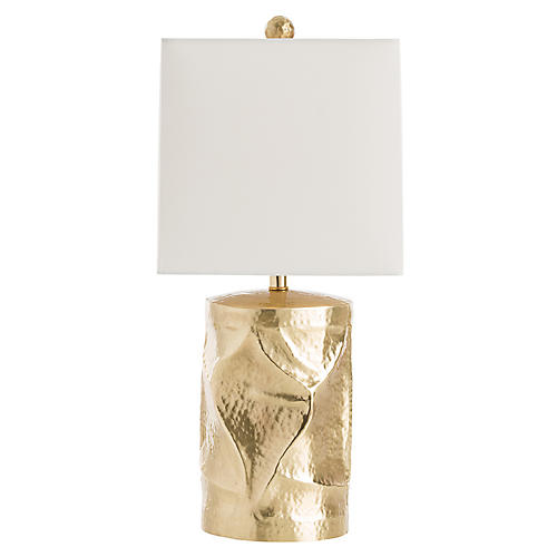 Delores Table Lamp, Brass