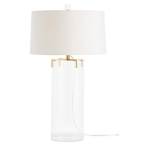 Dale Table Lamp, Clear/Brass