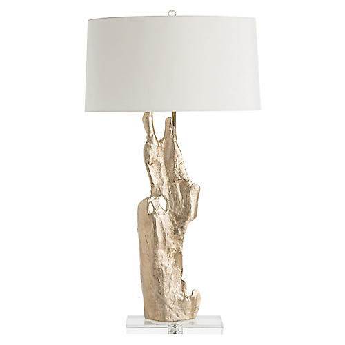 Dedra Crystal Table Lamp, Brass/Clear
