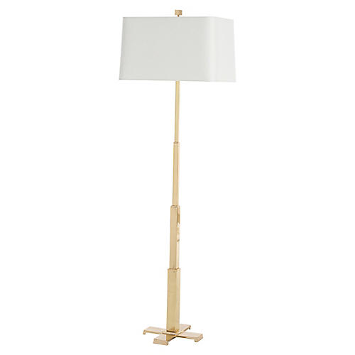 Finley Floor Lamp, Polished Brass