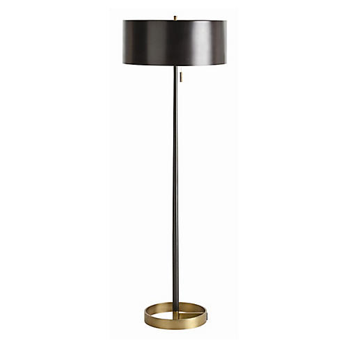 Violetta Floor Lamp, Black/Brass