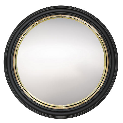 Ramona Oversize Wall Mirror, Antiqued Brass