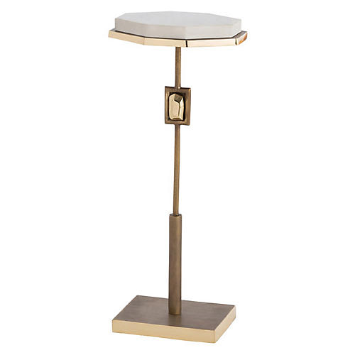 Fitzgerald Side Table, White