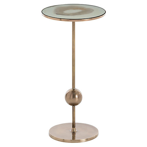 Fulton Side Table, Antiqued Mirror