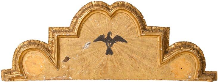 Over Door Gilt Pine Fragment