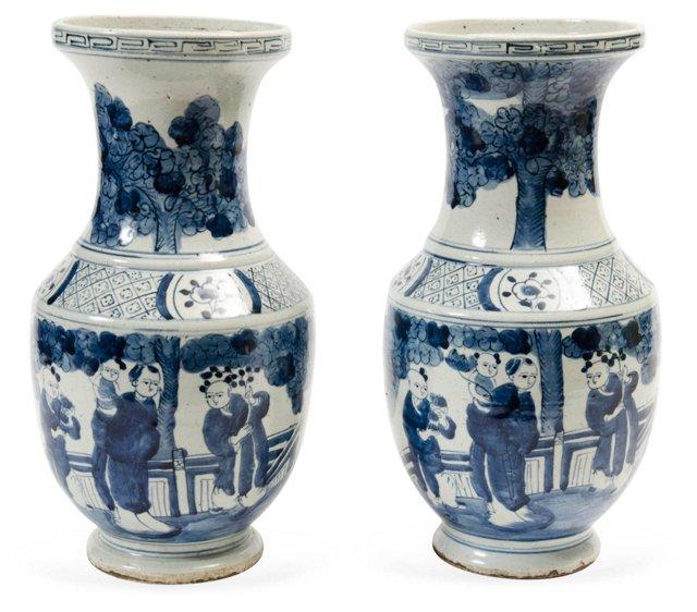 Antique Chinese Vases, Pair
