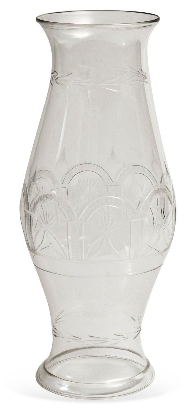 Antique Georgia Glass Hurricane Shade