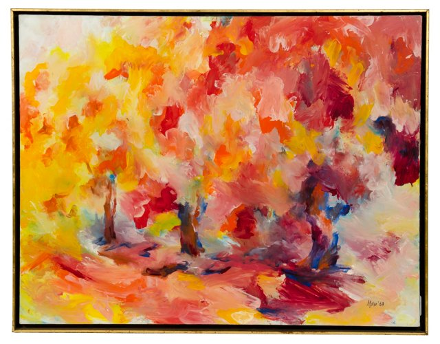 Abstract Oil Painting by William Moise