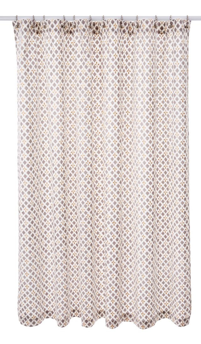 Mosaic Shower Curtain, Pewter