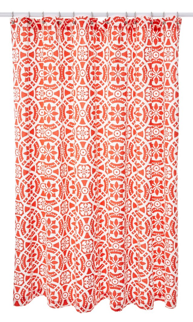 Medallion Shower Curtain, Orange