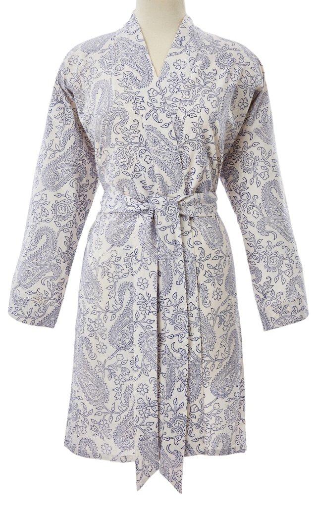 Paisley Toile Short Robe