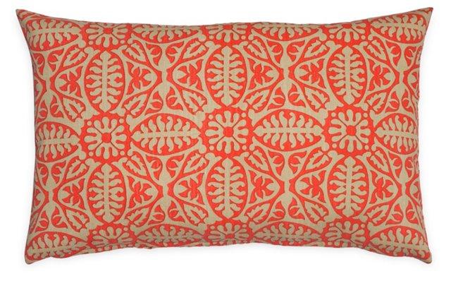 Damask 14x22 Pillow, Orange