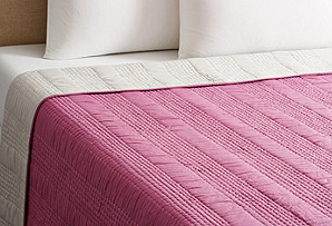 Seed-Stitch Quilt, Violet/Dove