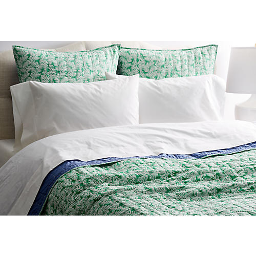 Maro Reversible Quilt, Green