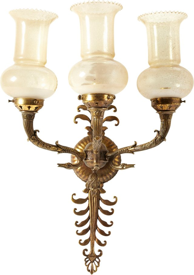 Auditorium Brass Wall Sconce