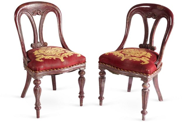 Victorian Chairs, Pair