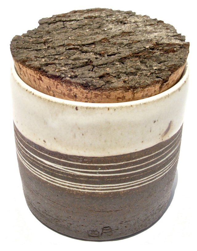 April Napier Corked Stoneware Cannister