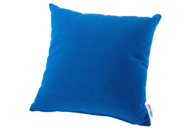 Throw Pillow, Deep Blue