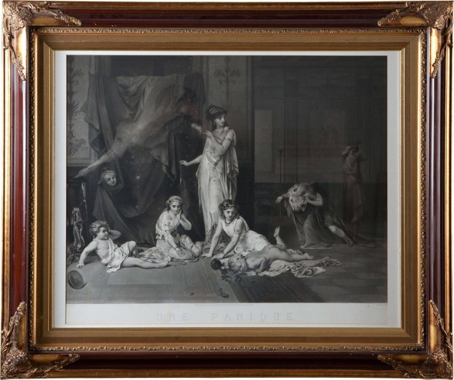 Une Panique Framed Engraving