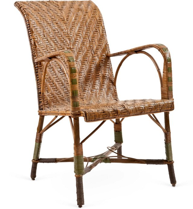 French Rattan Conservatory Chair