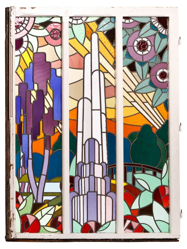Art Deco Stained Glass Panels III